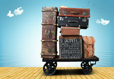 Luggage tourists stock image