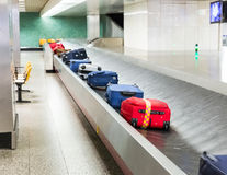 Luggage on the track Royalty Free Stock Image