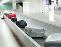 Luggage on the track Stock Photos