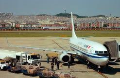 Luggage transport plane Royalty Free Stock Photo