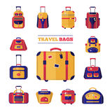 Luggage Travel Bags Set Royalty Free Stock Photography