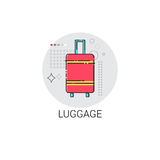 Luggage Travel Case Baggage Icon. Vector Illustration Stock Photo