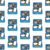Luggage travel pattern. On the white background. Vector illustration Royalty Free Stock Image
