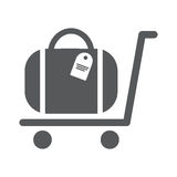 Luggage Trolley flat icon. Vector illustration EPS10 Stock Images