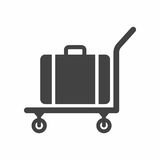 Luggage trolley. Vector icon isolated on white background stock illustration