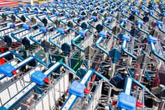 Luggage trolleys Royalty Free Stock Photos