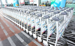 Luggage trolleys Royalty Free Stock Images