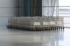 Luggage trolleys Stock Photos