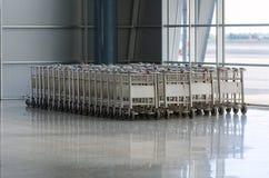 Luggage trolleys Stock Photos