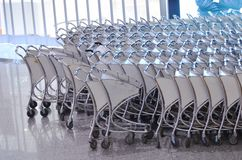 Luggage trolleys Stock Photo