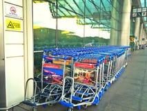 Luggage trolleys - Changi international airport Royalty Free Stock Image