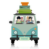 Luggage vans. Royalty Free Stock Images