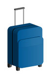 Luggage On Wheels. With Handle Up Royalty Free Stock Image