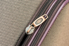 Luggage Zipper Royalty Free Stock Photo