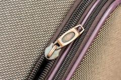 Luggage Zipper Royalty Free Stock Photo
