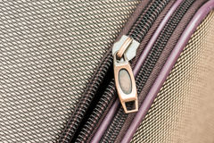 Luggage Zipper Stock Photo