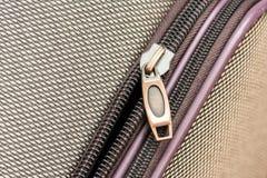 Luggage Zipper Stock Photo