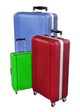 Luggages isolated on white background. 3D rendering. Royalty Free Stock Photos