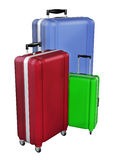 Luggages isolated on white background. 3D rendering. Stock Images