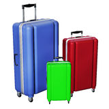 Luggages isolated on white background. Royalty Free Stock Photos