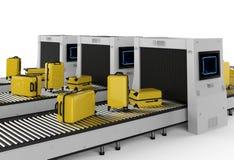Luggages obrazu cyfrowego maszyna zdjęcie royalty free