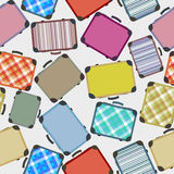Luggages pattern. Seamless background with luggage/suitcase in colors Royalty Free Stock Photos