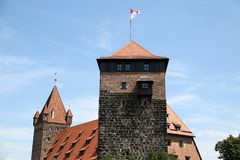 Luginsland Tower on Nuremberg Castle Stock Photography