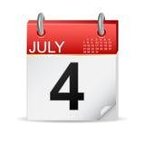 4 luglio calendario fotografia stock