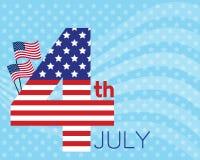 4 luglio carta Fotografia Stock Libera da Diritti