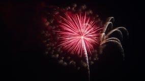 4 luglio celebrazione dei fuochi d'artificio in Nord Carolina Fotografie Stock Libere da Diritti