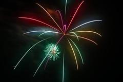 4 luglio celebrazione dei fuochi d'artificio in Nord Carolina Immagini Stock Libere da Diritti