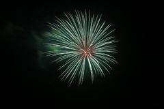 4 luglio celebrazione dei fuochi d'artificio in Nord Carolina Fotografia Stock