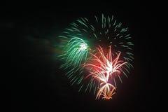 4 luglio celebrazione dei fuochi d'artificio in Nord Carolina Immagine Stock Libera da Diritti