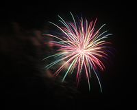 4 luglio celebrazione dei fuochi d'artificio in Nord Carolina Immagine Stock