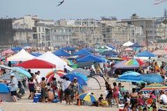 4 luglio 2015 celebrazioni sulla spiaggia a Venezia, California Fotografia Stock Libera da Diritti