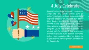 4 luglio celebri la progettazione concettuale Fotografie Stock Libere da Diritti