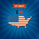 4 luglio distintivi ed etichette felici di Memorial Day Fotografie Stock