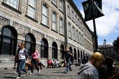 26 luglio 2011, Dublino, Irlanda - Trinity College, ufficialmente l'istituto universitario della trinità santa ed intera della re Immagini Stock