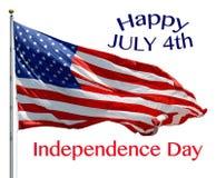 4 luglio felice Immagini Stock Libere da Diritti