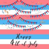 4 luglio felice Immagini Stock