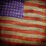 4 luglio fondo di festa dell'indipendenza con la bandiera americana su struttura di legno di lerciume royalty illustrazione gratis