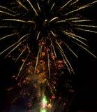 4 luglio fuochi d'artificio Fotografie Stock Libere da Diritti