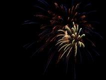 4 luglio fuochi d'artificio aerei Immagini Stock Libere da Diritti