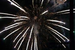 4 luglio fuochi d'artificio all'evento di notte Fotografia Stock Libera da Diritti