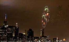 4 luglio fuoco d'artificio Immagine Stock Libera da Diritti