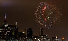 4 luglio fuoco d'artificio Fotografia Stock Libera da Diritti