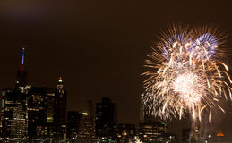 4 luglio fuoco d'artificio Fotografia Stock