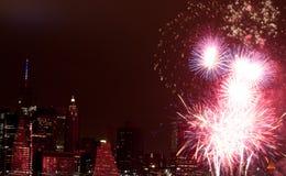 4 luglio fuoco d'artificio Fotografie Stock Libere da Diritti