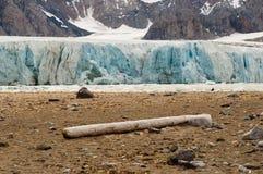 14 luglio ghiacciaio - Spitsbergen - le Svalbard Fotografia Stock