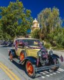 4 luglio 2016 - i cittadini di Ojai la California celebrano la festa dell'indipendenza - automobile antica Fotografie Stock